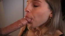 Heather Knows How To Deepthroat A Big Cock